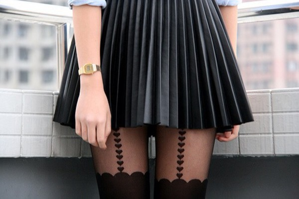 skirt black skirt pleated