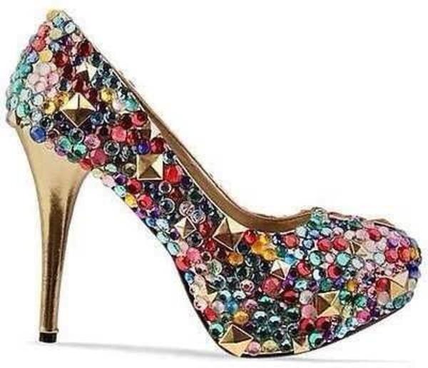 shoes bedazzle pumps