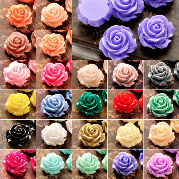 14x14mm Resin Flowers Cameos Fit Cabochons Settings Flatback Wholesale Free SHIP | eBay