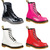 Dr Martens 1460W Womens Boots Patent Lamper Black, White, Red OR Pink | eBay