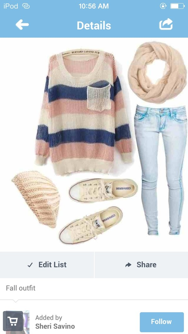 jeans sweater hat blouse