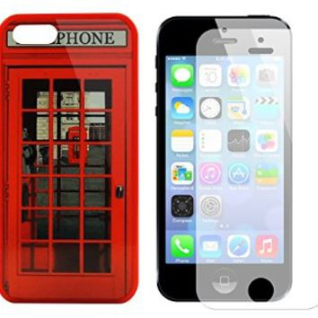 Iphone 5s Case, Red Telephone Booth Best of London Design Case for Iphone 5/5s - Free Screen Protector on Wanelo