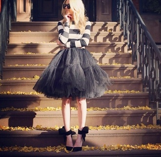 shirt black cool shirts badass sweet cute skirt blair funny white cool puffy nice black and white indie hippie chill amazing tulle skirt tulle dress short tulle dress black tulle skirt wedding evening dress prom party