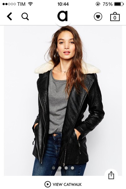 jacket asos longline biker