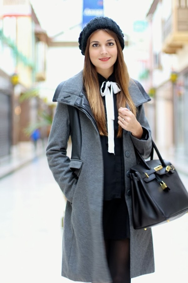 marilyn's closet blog blouse skirt coat shoes hat