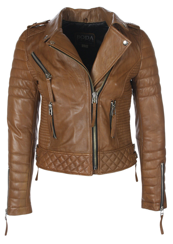 Kay Michaels Quilted Biker (Creased Antique Brown) – BODA SKINS - Leather to Love Forever