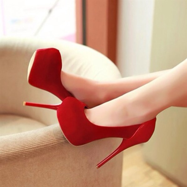 shoes red high heels boom