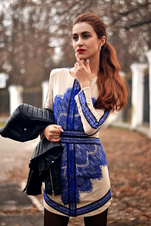 tina sizonova dress jacket jewels shoes