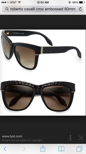 sunglasses black croc skin