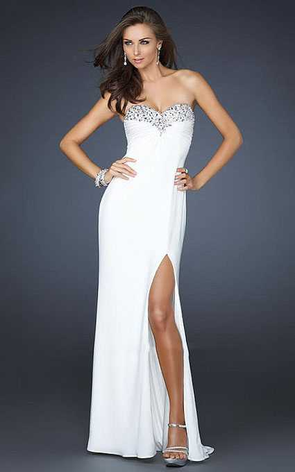 White Open Back La Femme 17670 Sweetheart Sequin Prom Gown [La Femme 17670] - $169.00 : Prom Dresses 2013, Homecoming Dresses 2013--PromSister