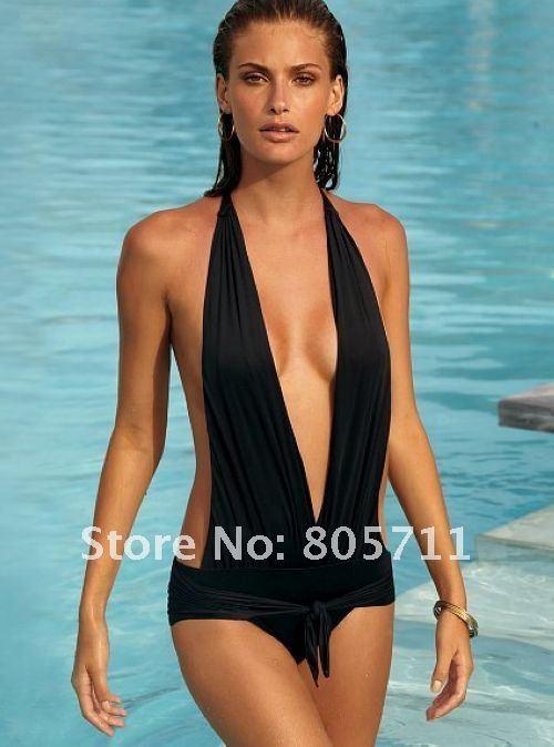 Aliexpress.com : Buy Hot Sale Halter Swimsuit  Monokini Black One Piece Swimwear Women Summer S M L size from Reliable bikini swimsuit suppliers on Aaron Liang's Store