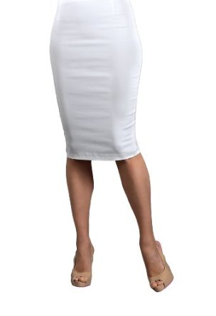 Amazon.com: Suddenly Fem White Pencil Skirt for Crossdressing and Transgender: Clothing