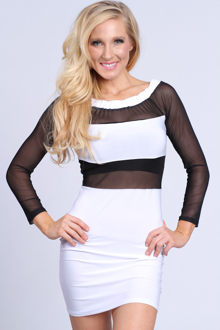 White Black Mesh Two Tone Sexy Party Dress @ Amiclubwear sexy dresses,sexy dress,prom dress,summer dress,spring dress,prom gowns,teens dresses,sexy party wear,women's cocktail dresses,ball dresses,sun dresses,trendy dresses,sweater dresses,teen clothing,e