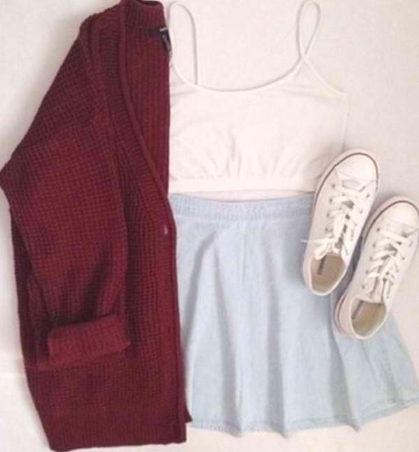 coat blouse shoes skirt