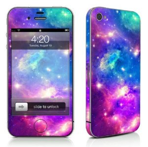 Amazon.com: E-Tribe Fashionable Nebula Design Full Body Vinyl Decal Sticker Skin For iPhone 4/4S(x5300c): Electronics
