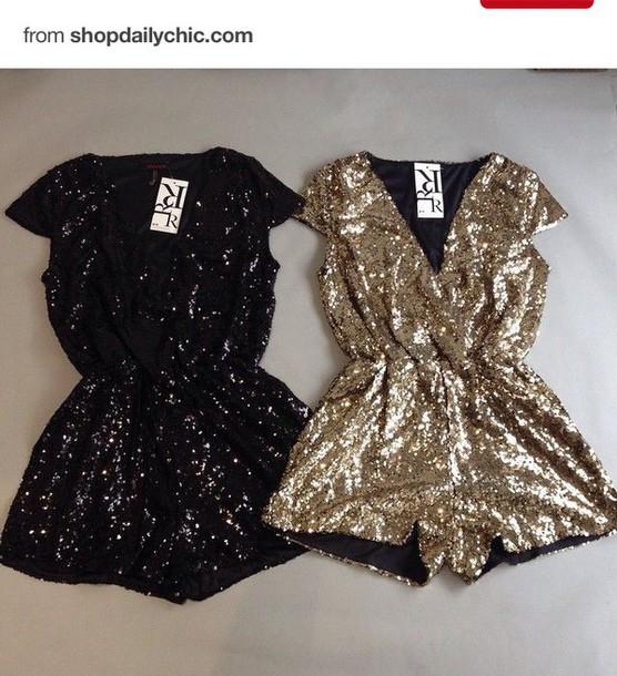 romper jumpsuit new balance new year's eve new girl glitter dress style fashion