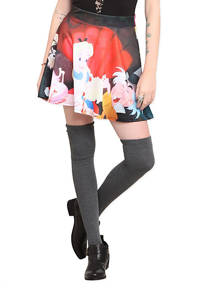 Disney Alice In Wonderland Skirt | Hot Topic