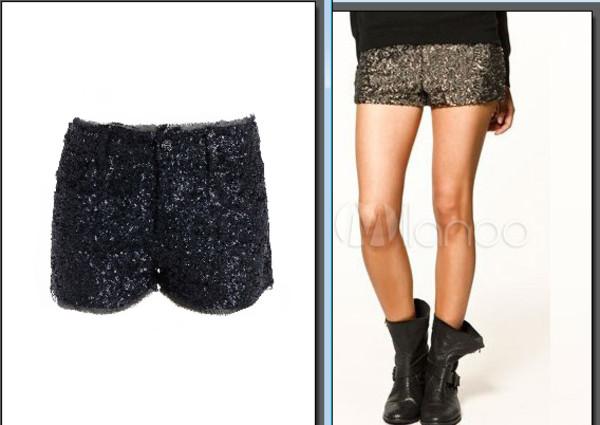 pants short sequins Sequin shorts