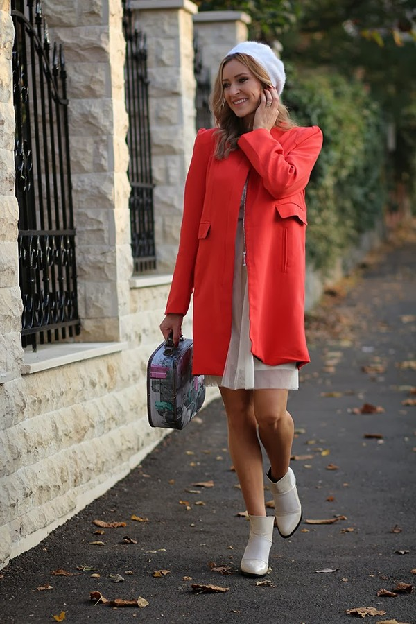fashion spot coat shoes dress hat bag