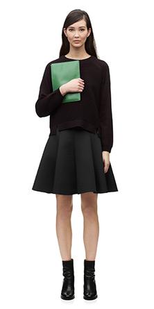 Neoprene Bailey Skater Skirt