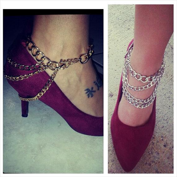 PAIR / / / Sexy Statement High Heel Chain by FashionDiggersMiami