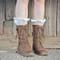 Knitted boot socks/leg warmers