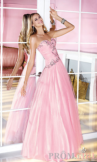 Prom Dresses, Celebrity Dresses, Sexy Evening Gowns - PromGirl: Strapless Sweetheart Floor Length Ball Gown