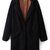Black Lapel Long Sleeve Pockets Long Coat - Sheinside.com