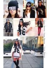 Vogue Black Beanie
