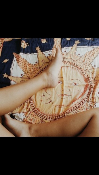 scarf sun moon blanket bedding orbit planets home accessory tapestry