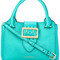 Burberry big buckle tote bag, women's, green, calf leather/cotton/polyamide