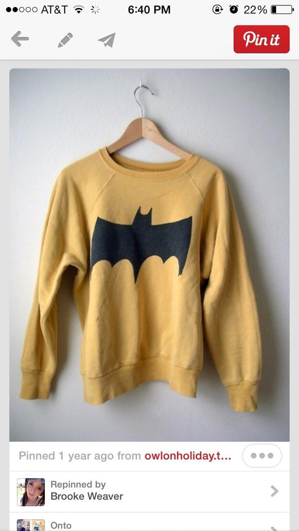 sweater batman yellow black pinterest