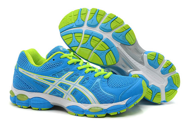 Women's Asics Gel Nimbus 14 Blue Green Shoes