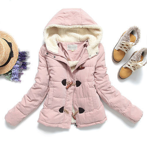 [grxjy560771]Candy Colors Quilted Toggle Button Hooded Padded Jacket Duffle Coat por Pgfancy.bigcartel.com - Shopcliq