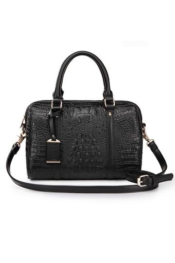 Fashion Compact Series Crocodile Handbag In Black [FPB659]- US$ 44.99 - PersunMall.com