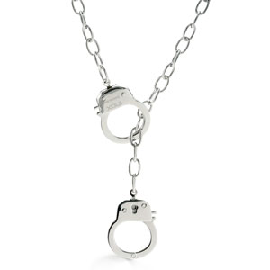 His or Her Handcuff Necklace  @ Inspired Silver