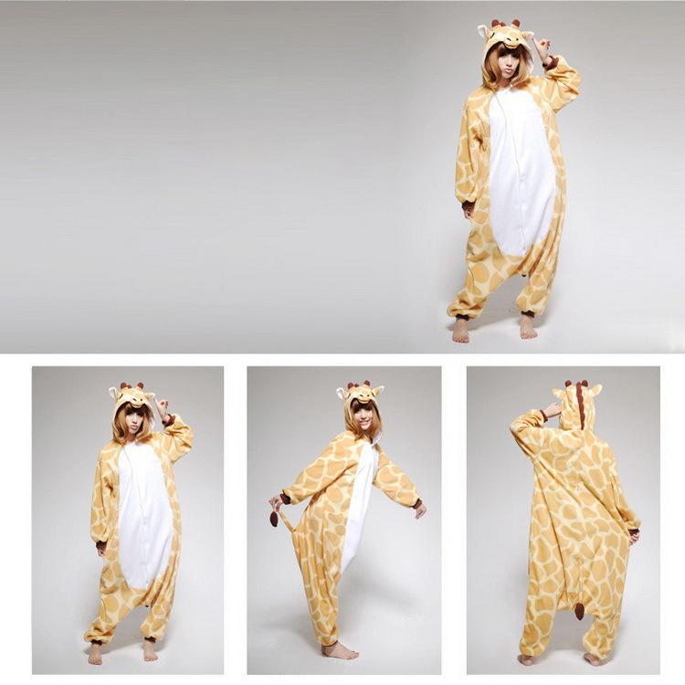 Animal Unisex KIGURUMI Pajamas Cosplay Costume Anime Onesies Sleepwear Giraffe | eBay