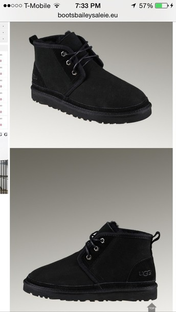 shoes black uggs