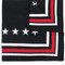 Givenchy star print scarf, women's, black, silk/cotton
