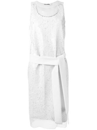 dress belted dress women spandex white silk