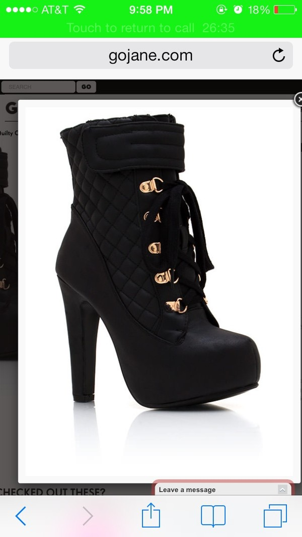 shoes black black booties faux leather quilted platform shoes high heels black high heels