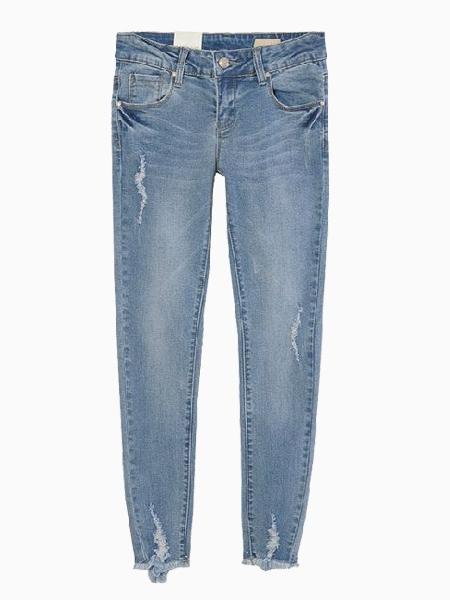 Mill White Tassels Jeans | Choies