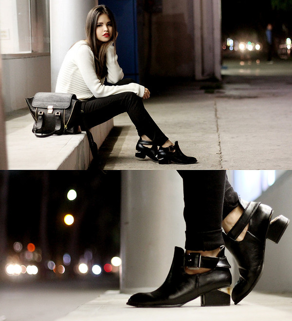 shoes mexico cut-out boots sweater white brand night street fashion