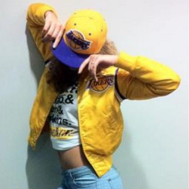 lakers hat jacket