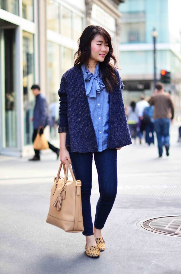 daily disguise shirt jeans sweater shoes bag