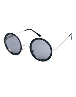 ASOS | ASOS - Occhiali da sole rotondi con ponte in metallo su ASOS