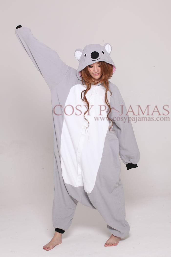 Animal Onesies Grey Koala Onesie Kigurumi For Adult