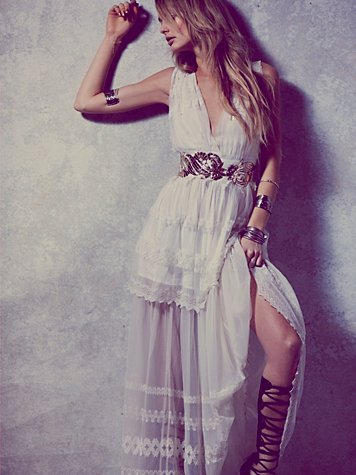 Free People  Gianna's White Limited Edition Gown at Free People Clothing Boutique
