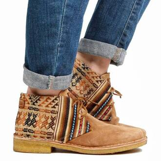 shoes aztec indie indian boots shoes winter boots ethnic outfit hipster hippie hippie chic menswear girly