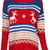 ROMWE | ROMWE Christmas Sweater Deer & Wave Striped Print Red Knitted Jumper, The Latest Street Fashion